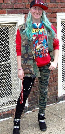Virginia Commonwealth University student street fashion