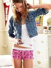 VS Pink Boxer Shorts