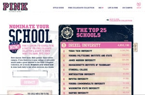 Nominate your school for the VS Pink Collegiate Collection