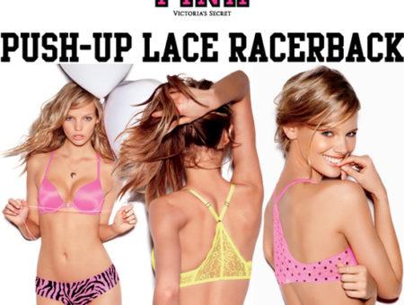 Victoria's Secret PINK Push-Up Lace Racerback Bra