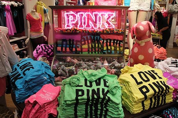 VS Pink Soho store