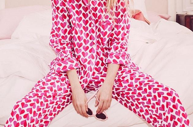 red pink heart pajamas sunglasses vs