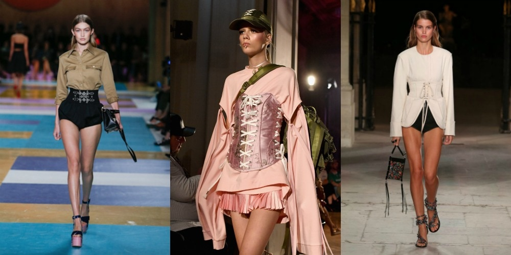 Waist chinchers at Miu Miu Spring 2017, Puma Fenty x Rihanna AW16, and Isabel Marant Spring 2017