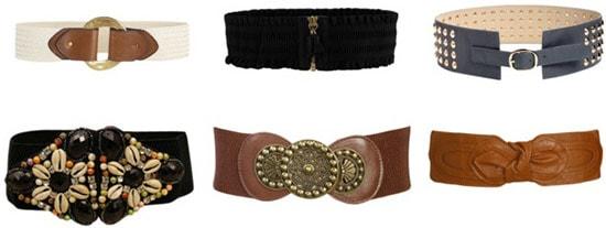 Wide, waist-cinching belts