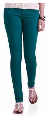 Walmart Colored Skinny Jeans in Deep Teal