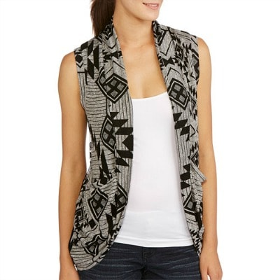 Walmart drape front cardigan with lace back