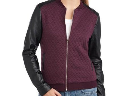 Walmart quilted bomber jacket