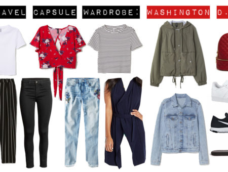 washington dc travel capsule wardrobe