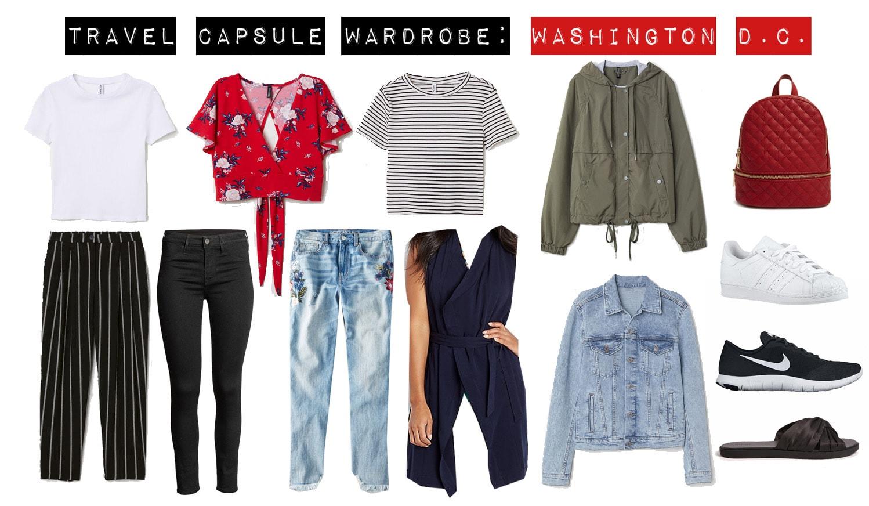 washington dc travel capsule wardrobe