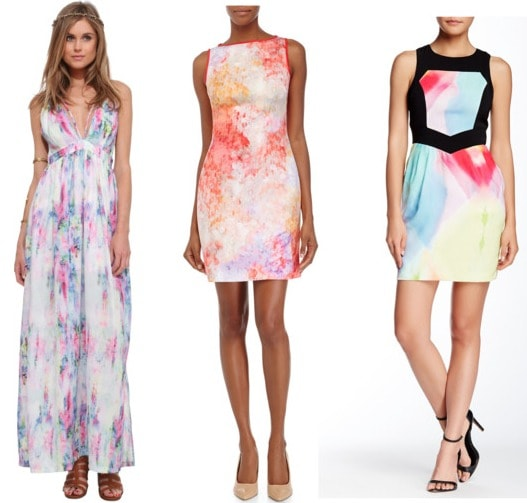 water color dress examples