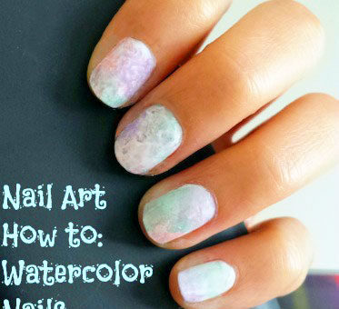 Watercolor-inspired nails