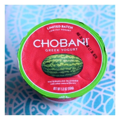 Watermelon Chobani Greek yogurt