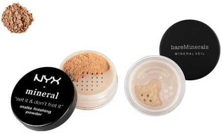 Waterproof makeup setting powders