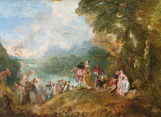Jean-Antoinne Watteau The Embarkation for Cythera