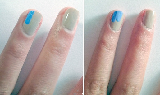 Wave inspired nails method 1 step 1