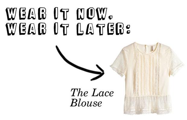 Wear it now, wear it later: lace blouse