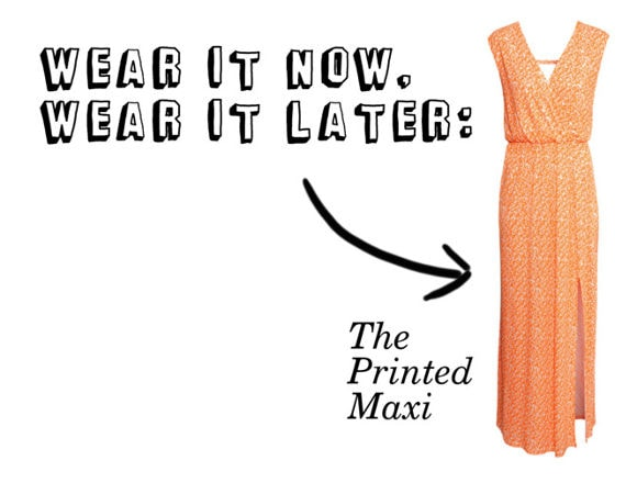Wear It Now, Wear It Later Printed Maxi Dress