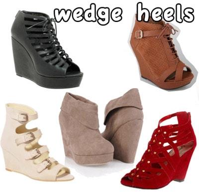 Cute wedge heels for fall