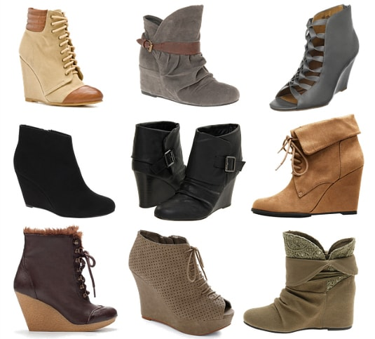 Wedged ankle boots fall 2011