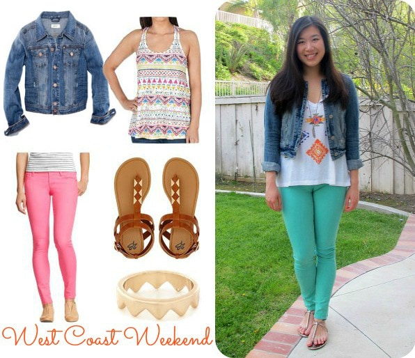 Denim Jacket Colored Jeans