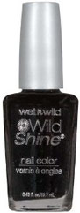 Wet 'n Wild Black Creme Nail Polish
