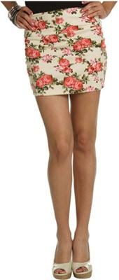 Wet Seal pink floral skirt