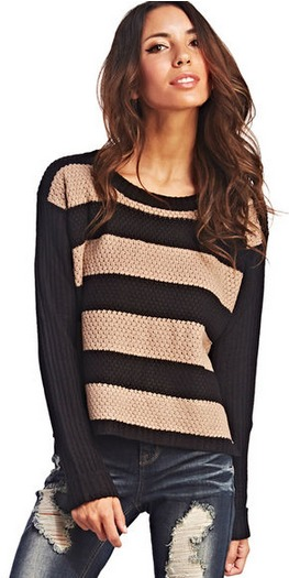 Wet seal rugby striped sweater