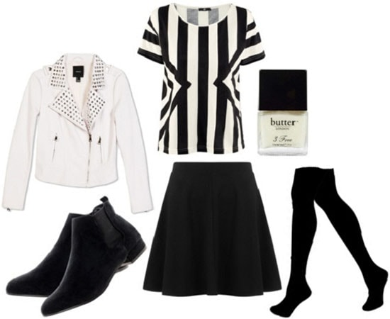 Fashion Inspired by Where the Sidewalk Ends: Black and white outfit