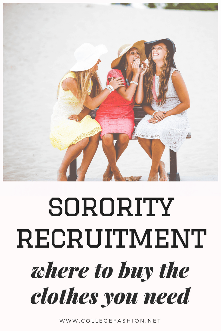 Where to Find Clothes for Sorority Recruitment