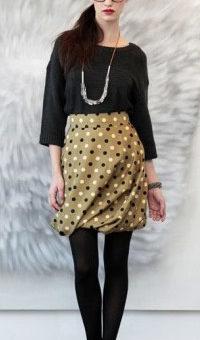 Whit Fall 2011 look 1 - Mustard polka dot skirt