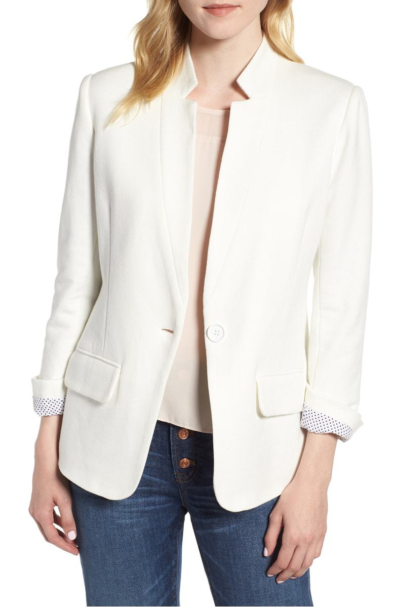 White blazer from Nordstrom