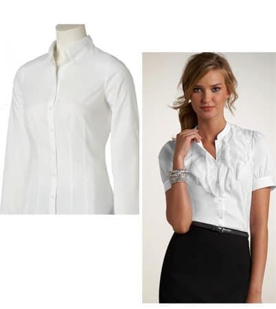 White button-down shirts