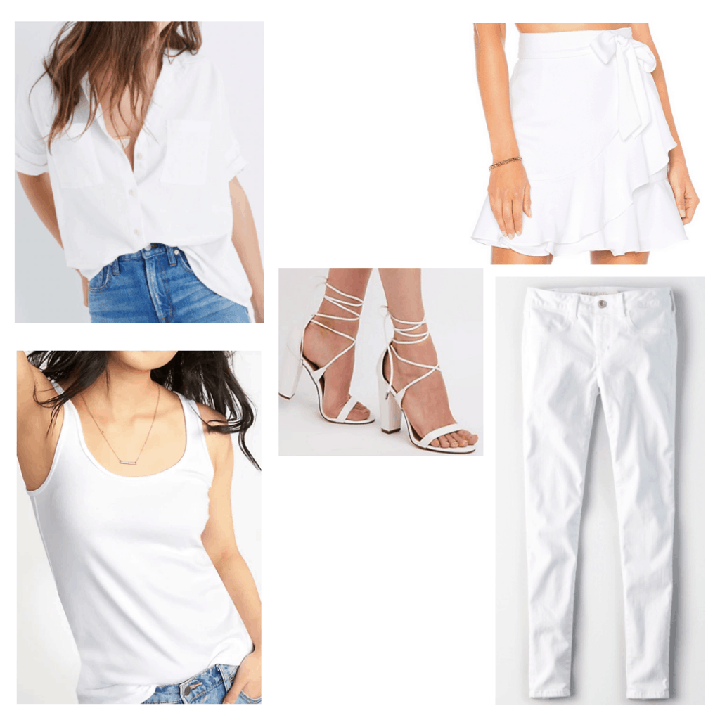 all white clothes and accessories