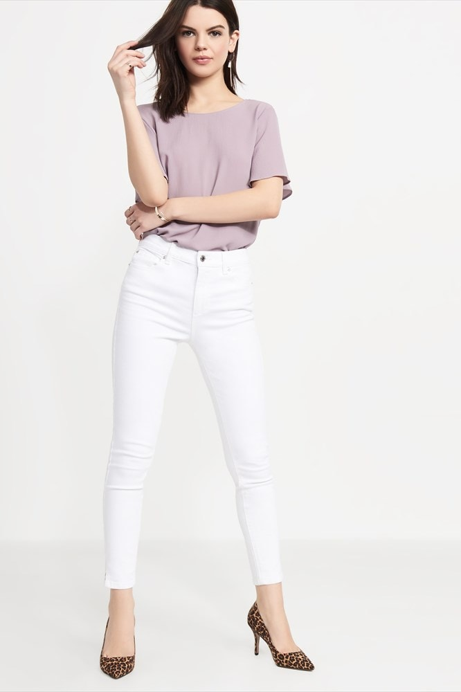 Kate white high rise jeans
