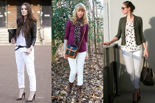 White jeans street style outfits