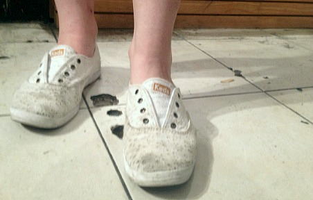 White keds tarrant county college student street style