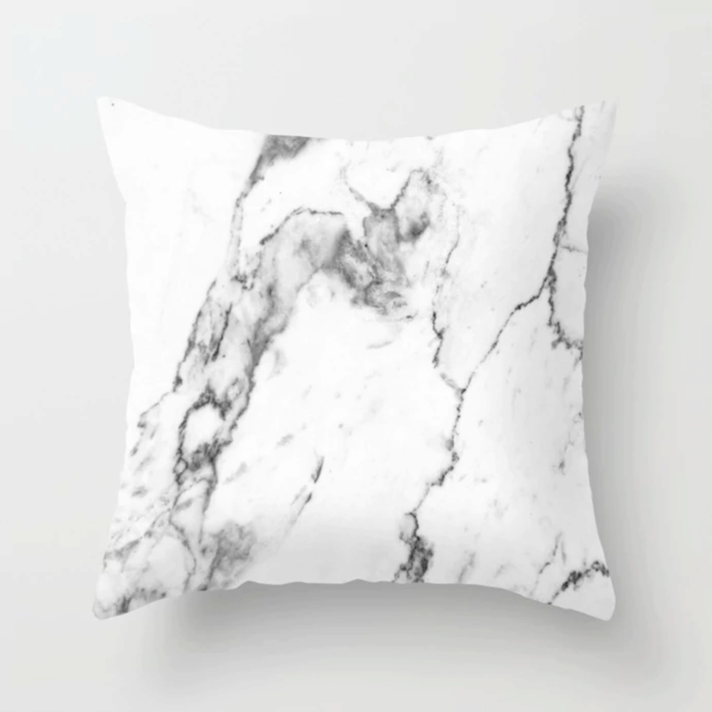 White marble pillows from Society6