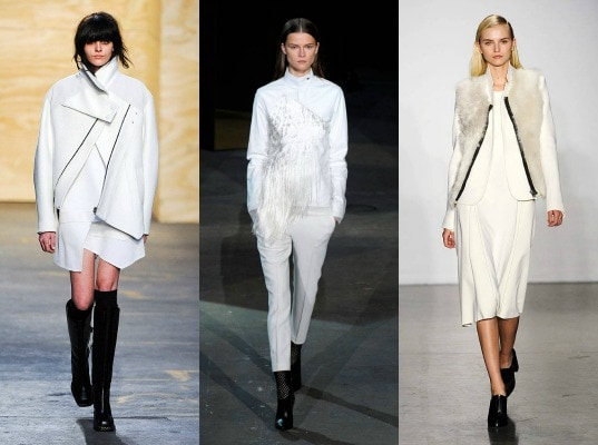 White on the fall 2012 runway