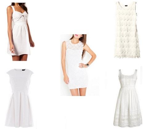 White summer dresses under
