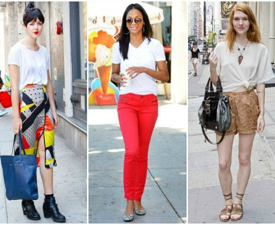 White t-shirt summer outfits