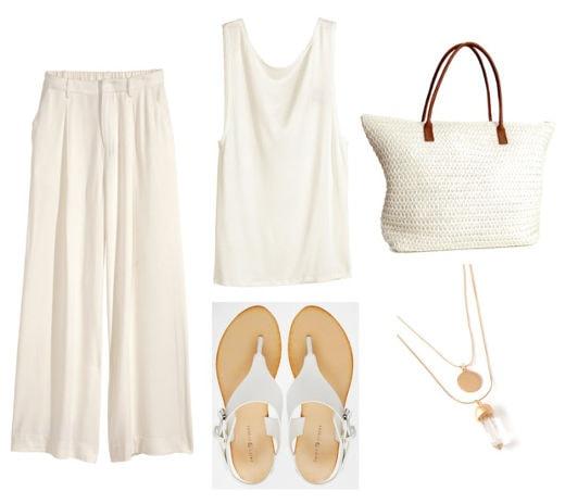 White tank white pants