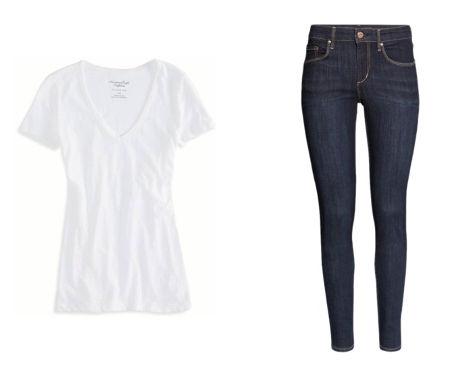 White tee skinny jeans