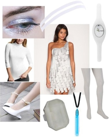 White outfit inspired by the Sirens in Tron Legacy