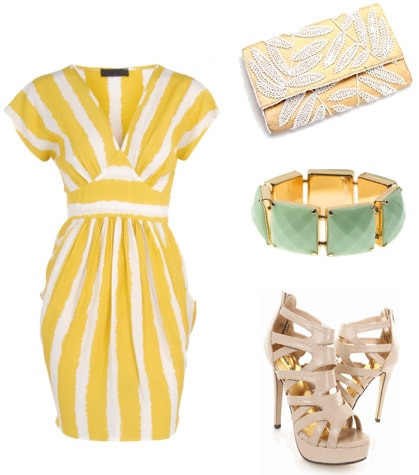 Pretty yellow dress outfit inspired by Whitney Port at the MTV Movie Awards