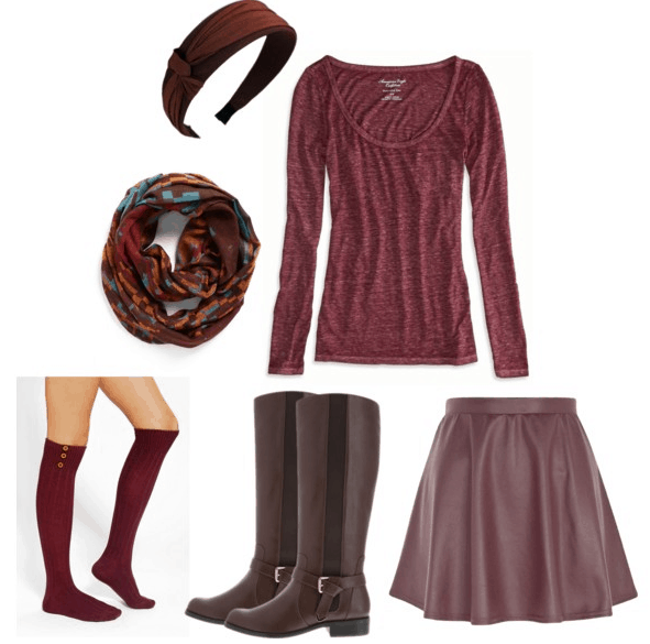 Wuthering-Heights-Repeating-Past-Leather-Skirt