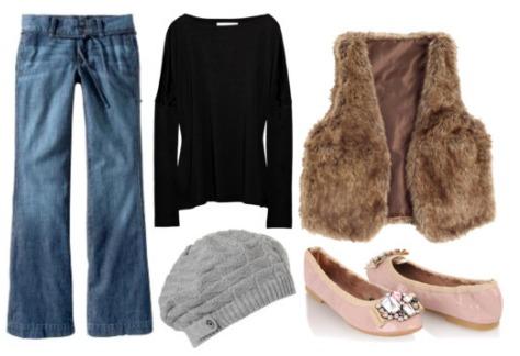 How to wear wide leg jeans like Rachel Zoe