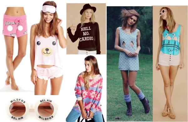 a set of 7 Wildfox items
