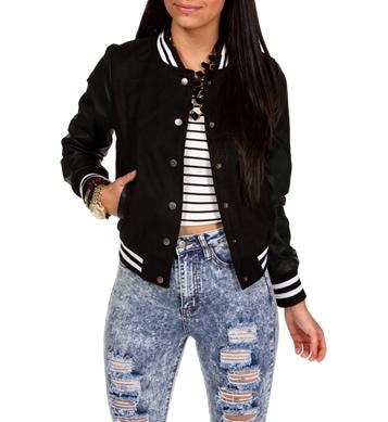 Windsor black varsity jacket
