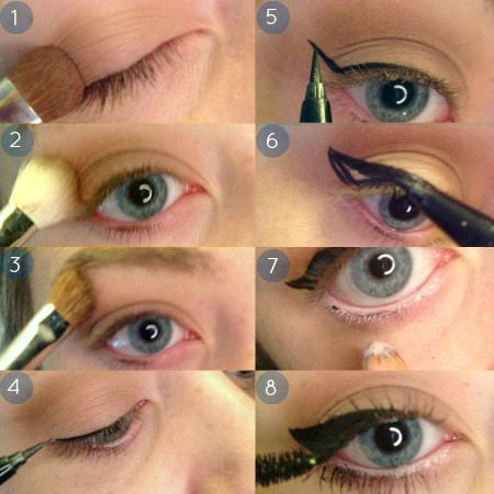 How to apply winged eyeliner: Steps