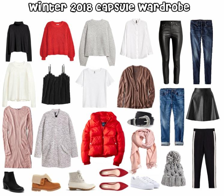 winter 2018 capsule wardrobe